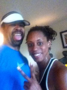 Me & Blue, after my 1st run this year.