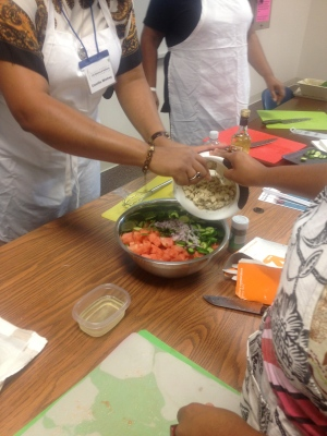 Participant's in Dr. Tiffany Griffin's veg-centric workshop at Spelman College.